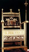 Diamond throne of Tsar Alexis. Alexei Mikhailovich Romanov (1629-1676) Tsar of Russia 1645-1676.