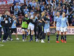 February 23, 2019 - Sheffield, England, United Kingdom - Manchester City delebrate winning during the  FA Women's Continental League Cup Final  between Arsenal and Manchester City Women at the Bramall Lane Football Ground, Sheffield United FC Sheffield, Saturday 23rd February. (Credit Image: © Action Foto Sport/NurPhoto via ZUMA Press)