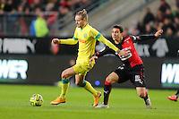 Kian HANSEN / Benjamin ANDRE - 21.03.2015 - Rennes / Nantes - 30eme journee de Ligue 1 -<br />Photo : Vincent Michel / Icon Sport