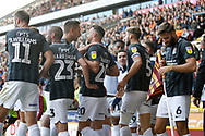 Goal celebration  by Charlie Goode of Northampton Town   during the EFL Sky Bet League 2 match between Bradford City and Northampton Town at the Utilita Energy Stadium, Bradford, England on 7 September 2019.