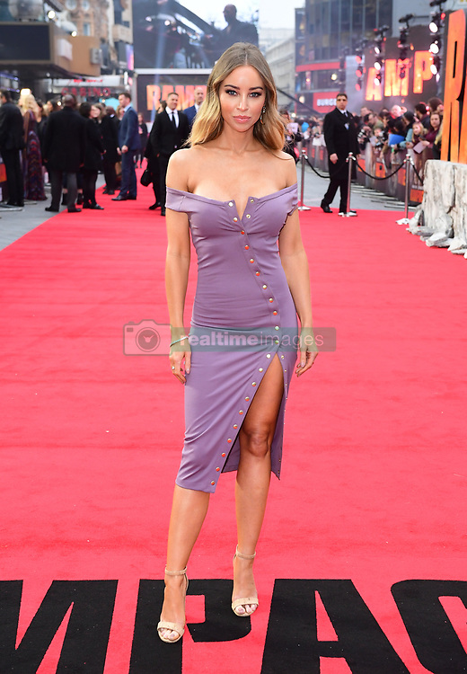 Lauren Pope attending the European premiere of Rampage, held at the Cineworld in Leicester Square, London. Picture date: Wednesday April 11, 2018. See PA story SHOWBIZ Rampage. Photo credit should read: Ian West/PA Wire