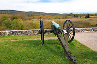 Cannons positioned over the fields of the day's final attack Antietam National Battlefield.