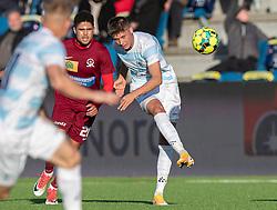 Frederik Juul Christensen (FC Helsingør) under kampen i 1. Division mellem FC Helsingør og Skive IK den 18. oktober 2020 på Helsingør Stadion (Foto: Claus Birch).