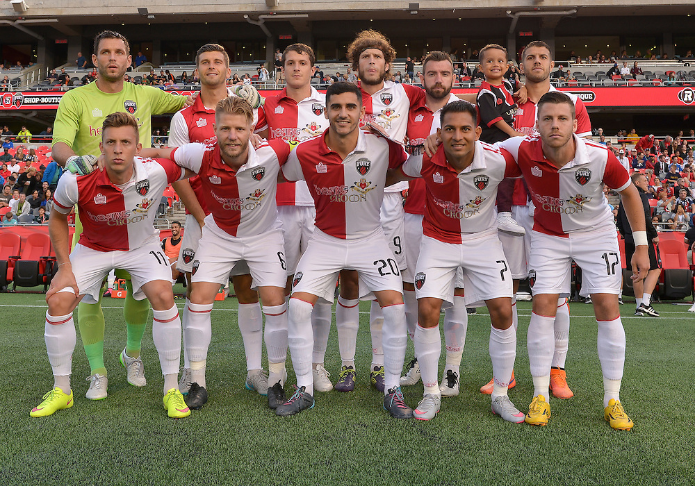 August 26, 2015: Ottawa Fury FC versus the New York Cosmos FC  in the NASL at TD Place Stadium in Ottawa, Canada with the match finishing 0-0.