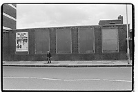 Advert for caps, London, 1982. South-East London, 1982