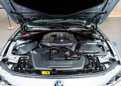 View of BMW eDrive electric motor at Paris Motor Show 2016