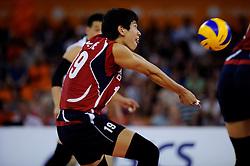 08-07-2010 VOLLEYBAL: WLV NEDERLAND - ZUID KOREA: EINDHOVEN<br /> Nederland verslaat Zuid Korea met 3-0 / Kang Joo Lee<br /> ©2010-WWW.FOTOHOOGENDOORN.NL