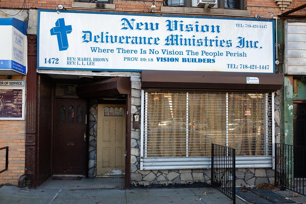 New Vision Deliverance Mimistries Inc., 1472 Flatbush Avenue, Brooklyn.