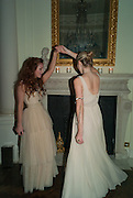 OLIVIA GRANT; AMBER ATHERTON, Tatler magazine Jubilee party with Thomas Pink. The Ritz, Piccadilly. London. 2 May 2012