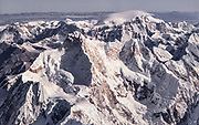 Jannu, Khumbukarna, aerial view over southern side ( original Frenc/ Lionel Terray 1960s route) of this famous  peak, Nepal Himalaya