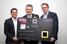 RBS first UK bank to unveil fingerprint card, Edinburgh, 25 April 2019