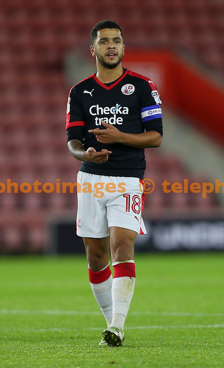 Crawley's Billy Clifford during the Checkatrade Trophy match between Southampton U23's and Crawley Town at St Mary's Stadium in Southampton. November 8, 2016.<br /> James Boardman / Telephoto Images<br /> +44 7967 642437