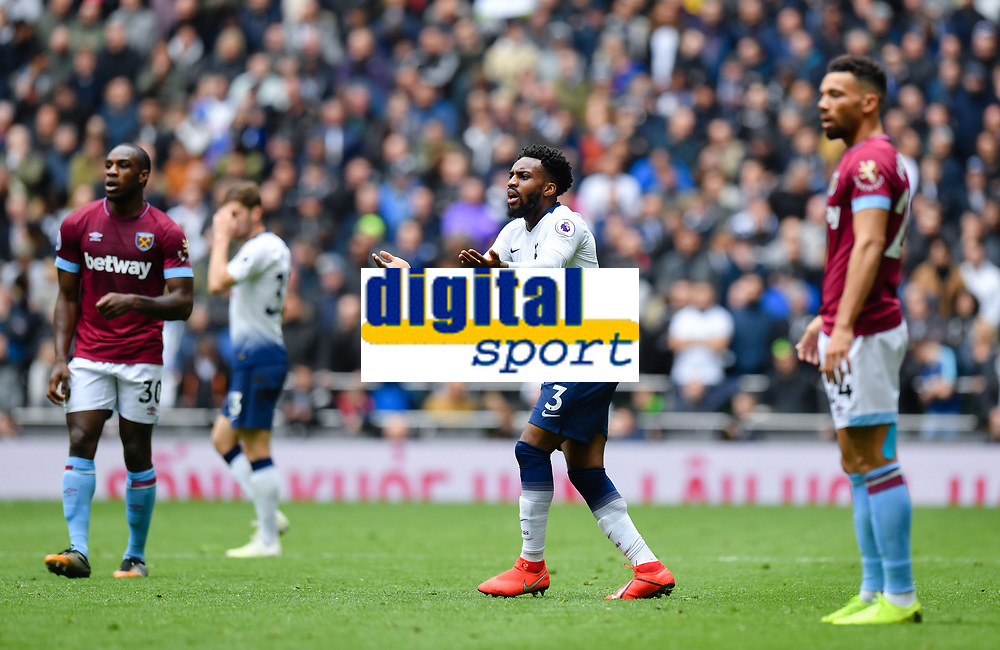 Football - 2018 / 2019 Premier League - Tottenham Hotspur vs. West Ham United<br /> <br /> Tottenham Hotspur's Danny Rose frustrated as a pass is not picked up, at The Tottenham Hotspur Stadium.<br /> <br /> COLORSPORT/ASHLEY WESTERN