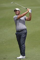 October 12, 2018 - Kuala Lumpur, Malaysia - An Byeong-hun of South Korea hits a shot during the second round of 2018 CIMB Classic golf tournament in Kuala Lumpur, Malaysia on October 12, 2018. (Credit Image: © Zahim Mohd/NurPhoto via ZUMA Press)