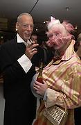Kenneth Blackman and David G. Taylor. David la Chapelle VIP party. Barbican. 21 October 2002. © Copyright Photograph by Dafydd Jones 66 Stockwell Park Rd. London SW9 0DA Tel 020 7733 0108 www.dafjones.com