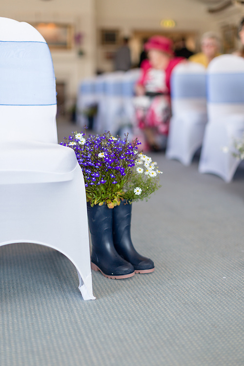 The Wedding of Tamsin Flower and Nick Meadow at Bembridge Sailing Club on the Isle of Wight