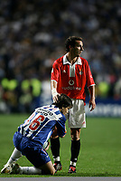LISBOA 17 OCTOBER  2004: DIEGO #16 and PETIT #6, in the, 6¼ leg of the Super Liga, season 2004/2005, match SL Benfica v  FC Porto, held in Luz stadium, 17/10/2004  19:45<br />(PHOTO BY: NUNO ALEGRIA / AFCD)