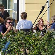 NLD/Huizen/201200705 - Jeroen Nieuwenhuize en partner Kayla op het terras van de Shore Club Huizen,