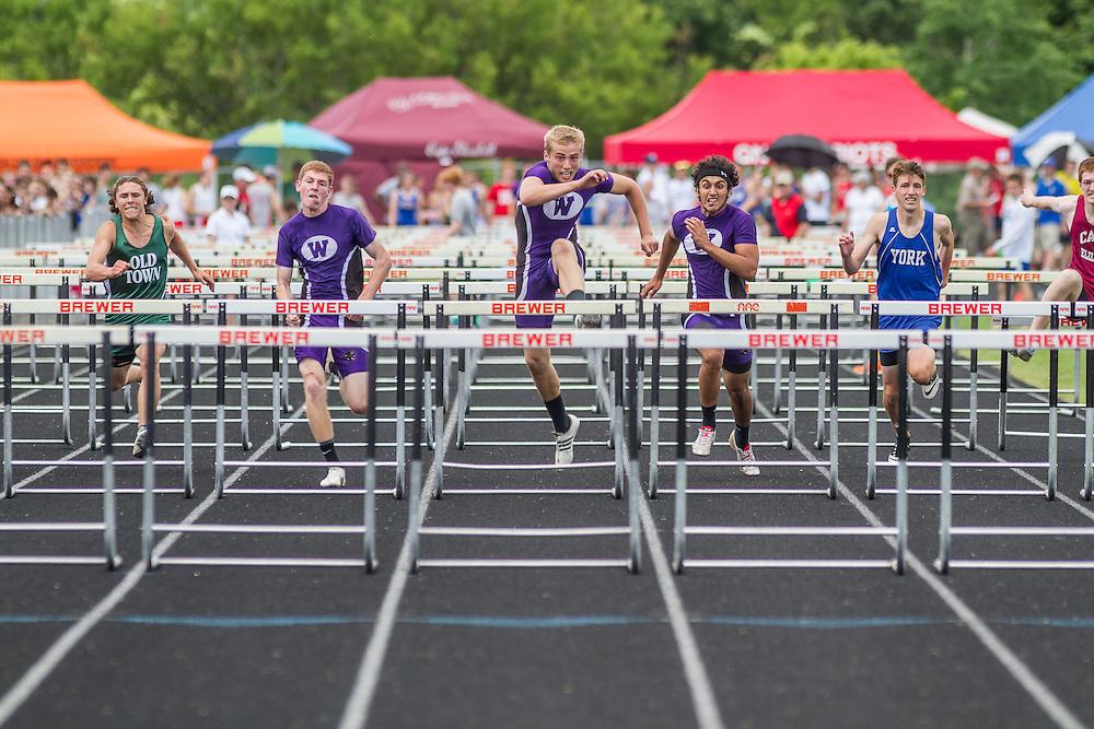 Maine State Track & Field Meet, Class B: boys high hurdles, Troy Gurski, Waterville