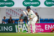 Aneurin Donald of Hampshire batting during the Specsavers County Champ Div 1 match between Surrey County Cricket Club and Hampshire County Cricket Club at the Kia Oval, Kennington, United Kingdom on 18 August 2019.