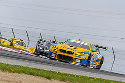 May 6, 2018 - Lexington, Ohio, United States of America - The Turner Motorsport BMW M6 GT3 car races through the keyhole turn during the the Acura Sports Car Challenge at Mid Ohio Sports Car Course in Lexington, Ohio. (Credit Image: © Walter G Arce Sr Asp Inc/ASP via ZUMA Wire)
