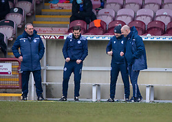 06MAR21 Queen of the South's Manager Allan Johnston at the end. Arbroath 2 v 4 Queen of the South, Scottish Championship played 6/3/2021 at Arbroath's home ground, Gayfield Park.