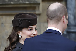 The Duke and Duchess of Cambridge arrive for the Easter Mattins Service at St George's Chapel, Windsor Castle, Windsor.