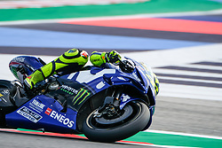 September 7, 2018 - 46 VALENTINO ROSSI from Italy, Movistar Yamaha MotoGP Team, Yamaha YZR-M1 2018, Gran Premio Octo di San Marino e della Riviera di Rimini, during the Friday FP1 at the Marco Simoncelli World Circuit for the 13th round of MotoGP World Championship, from September 7th to 9th, 2018. (Credit Image: © AFP7 via ZUMA Wire)