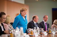 DEU, Deutschland, Germany, Berlin, 10.07.2019: Bundeskanzlerin Dr. Angela Merkel (CDU) vor Beginn der 60. Kabinettsitzung im Bundeskanzleramt.