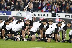New-Zealand's Haka during a rugby friendly Test match, France vs New-Zealand in Stade de France, St-Denis, France, on November 11th, 2017. France New-Zealand won 38-18. Photo by Henri Szwarc/ABACAPRESS.COM