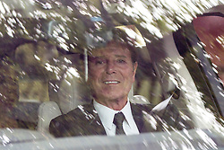 © Licensed to London News Pictures. 20/08/2015. Liverpool, UK. Picture shows Sir Cliff Richard leaving Cilla Black's funeral at St Mary's church in Liverpool. Photo credit: Andrew McCaren/LNP