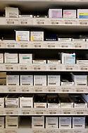 The Hague. Hospital. MCH. Medisch Centrum Haaglanden. Medicine in the pharmacy .Photo: Gerrit de Heus
