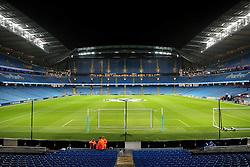 A general view of The Etihad Stadium - Mandatory byline: Matt McNulty/JMP - 07966386802 - 08/12/2015 - FOOTBALL - Etihad Stadium -Manchester,England - Manchester City v Borussia Monchengladbach - UEFA Champions League - Group D