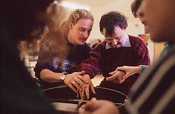 Music workshop for adults with learning difficulties,