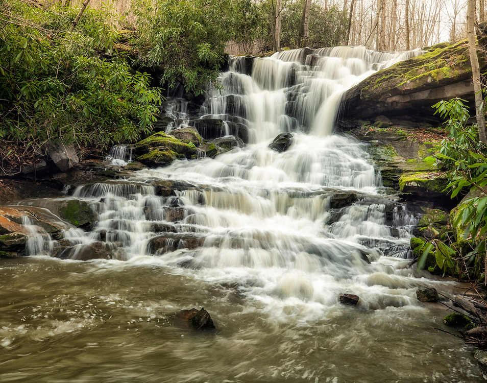 """Stewarton Rd Falls - Ohiopyle, PA<br /> <br /> Available sizes:<br /> 11"""" x 14"""" print <br /> <br /> See Pricing page for more information. Please contact me for custom sizes and print options including canvas wraps, metal prints, assorted paper options, etc. <br /> <br /> I enjoy working with buyers to help them with all their home and commercial wall art needs."""