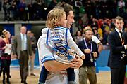 DESCRIZIONE : Final Eight Coppa Italia 2015 Finale Olimpia EA7 Emporio Armani Milano - Dinamo Banco di Sardegna Sassari<br /> GIOCATORE : Matteo Formenti<br /> CATEGORIA : esultanza post game post game<br /> SQUADRA : Banco di Sardegna Sassari<br /> EVENTO : Final Eight Coppa Italia 2015<br /> GARA : Olimpia EA7 Emporio Armani Milano - Dinamo Banco di Sardegna Sassari<br /> DATA : 22/02/2015<br /> SPORT : Pallacanestro <br /> AUTORE : Agenzia Ciamillo-Castoria/Max.Ceretti