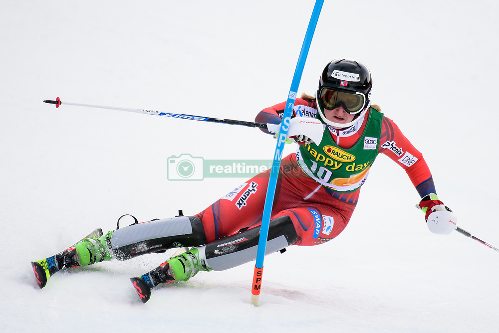 January 7, 2018 - Kranjska Gora, Gorenjska, Slovenia - Maren Skjoeld of Norway competes on course during the Slalom race at the 54th Golden Fox FIS World Cup in Kranjska Gora, Slovenia on January 7, 2018. (Credit Image: © Rok Rakun/Pacific Press via ZUMA Wire)