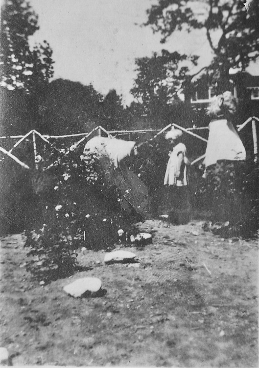 possibly Trina and Margaret DeYoung, unclear who third person in photo is