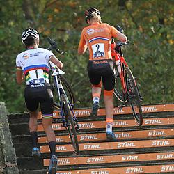 07-11-2020: Wielrennen: EK Veldrijden: Rosmalen: Ceylin Alvarado is de nieuwe Europese Kampioene. Annemarie Worst tweede en Lucinda Brand derde.