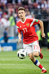 June 14, 2018 - Moscow, Russia - 180614 Roman Zobnin of Russia during the FIFA World Cup group stage match between Russia and Saudi Arabia on June 14, 2018 in Moscow..Photo: Petter Arvidson / BILDBYRÃ…N / kod PA / 92065 (Credit Image: © Petter Arvidson/Bildbyran via ZUMA Press)