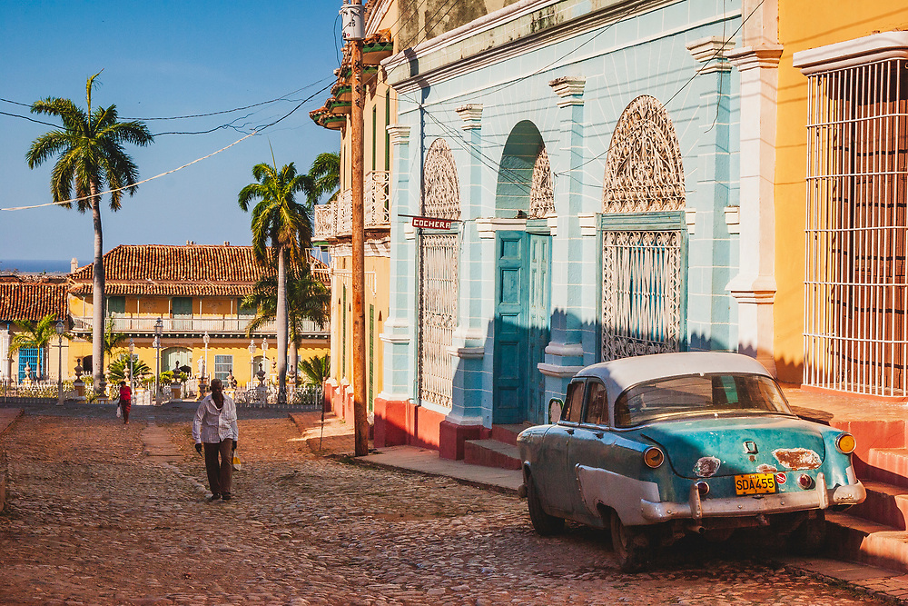 Walking the streets of Trinidad de Cuba. These wonderfully preserved Spanish colonial style streets come alive with the glow of both the morning and evening sun. Combined with classic vintage cars scattered about it is a remarkable place to explore - and a number of the very friendly Casas Particulares, where you stay with the local families