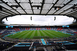 General view inside the ground ahead of the UEFA Euro 2020 Group D match at Hampden Park, Glasgow. Picture date: Monday June 14, 2021.