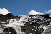 Austria, Tyrol, Landeck District, Kaunertal valley, Snow covered mountain