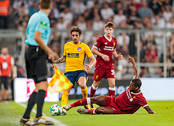 02.08.2017, Allianz Arena, Muenchen, GER, Audi Cup, FC Liverpool vs Atletico Madrid, Finale, im Bild Sime Vrsaljko (Atletico Madrid), Georginio Wijnaldum (FC Liverpool) // during the Audi Cup Final Match between FC Liverpool and Atletico Madrid at the Allianz Arena, Munich, Germany on 2017/08/02. EXPA Pictures © 2017, PhotoCredit: EXPA/ JFK