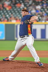 March 26, 2018 - Houston, TX, U.S. - HOUSTON, TX - MARCH 26: Houston Astros pitcher Will Harris (36) delivers a pitch during the game between the Milwaukee Brewers and Houston Astros at Minute Maid Park on March 26, 2018 in Houston, Texas. (Photo by Ken Murray/Icon Sportswire) (Credit Image: © Ken Murray/Icon SMI via ZUMA Press)