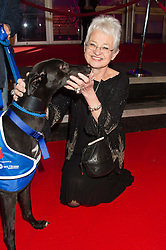 DAME JACQUELINE WILSON at the Battersea Dogs & Cats Home's Collars & Coats Gala Ball held at Battersea Evolution, Battersea Park, London on 12th November 2015.