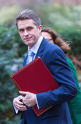 London - Defence Secretary Gavin Williamson attends the weekly meting of the UK cabinet at Downing Street. January 23 2018.