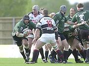 Sport - Rugby 27/04/2002 Parker Pen Shield - Semi-Final<br />London Irish vs Pontypridd - Kassam Stadium - Oxford<br />Chris Sheasby, attacks the Pontypridd line,