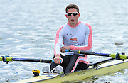 Reading. United Kingdom. GBR LM1X. Will FLETCHER,  2014 Senior GB Rowing Trails, Redgrave and Pinsent Rowing Lake. Caversham.<br /> <br /> 14:03:18  Saturday  19/04/2014<br /> <br />  [Mandatory Credit: Peter Spurrier/Intersport<br /> Images]