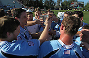 during the game against the Virginia Cavaliers in Charlottesville, VA. Johns Hopkins defeated Virginia 11-10 in overtime. .